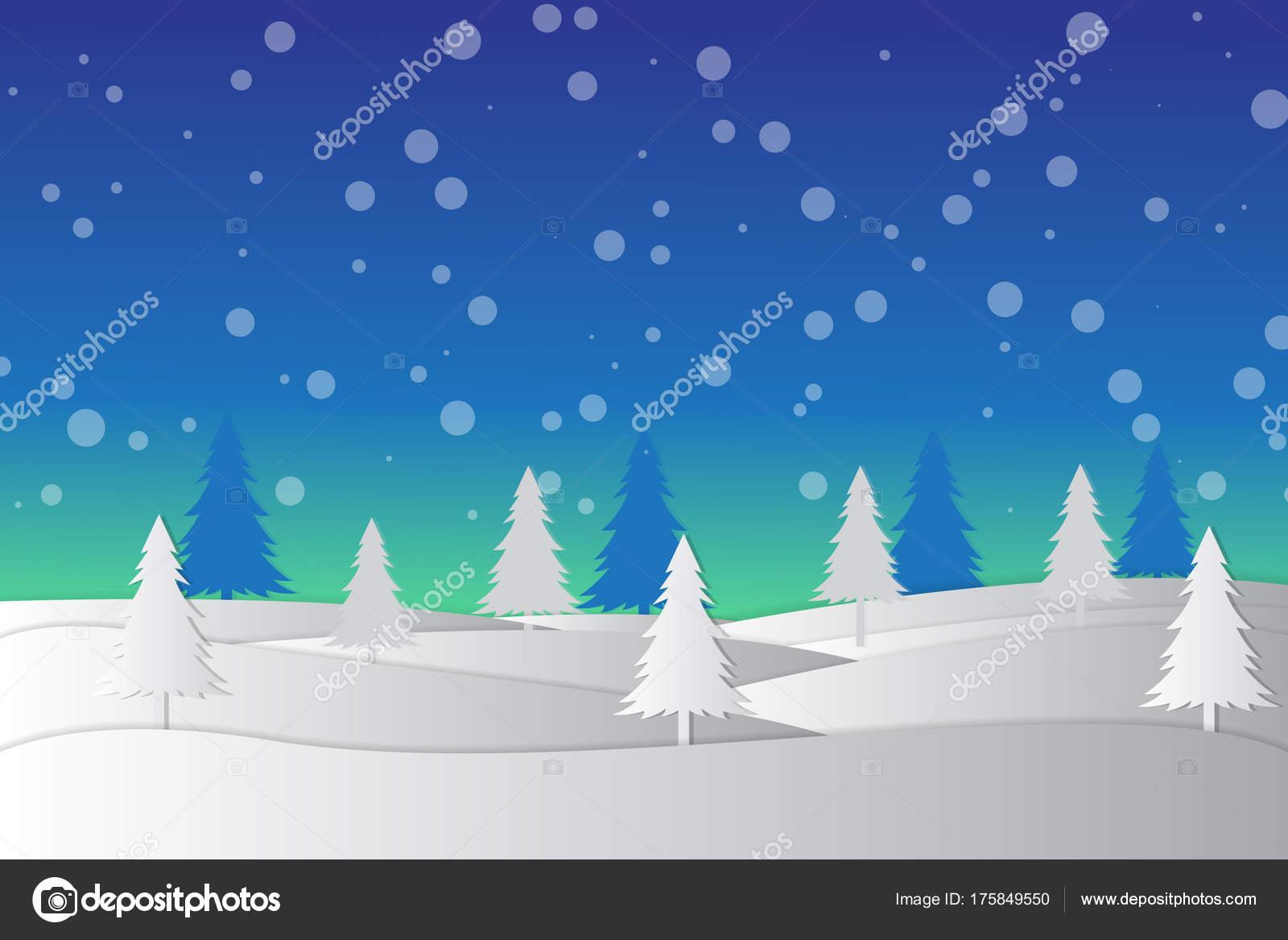 Sfondi Invernali Natalizi.Vettore Sfondi Invernali Natale Sfondo Paesaggio Invernale Natale