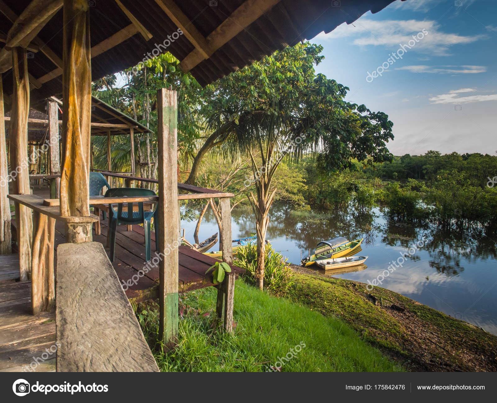 Palmari Brasil Mayo 2016 Vista Del Río Javari Desde Terraza