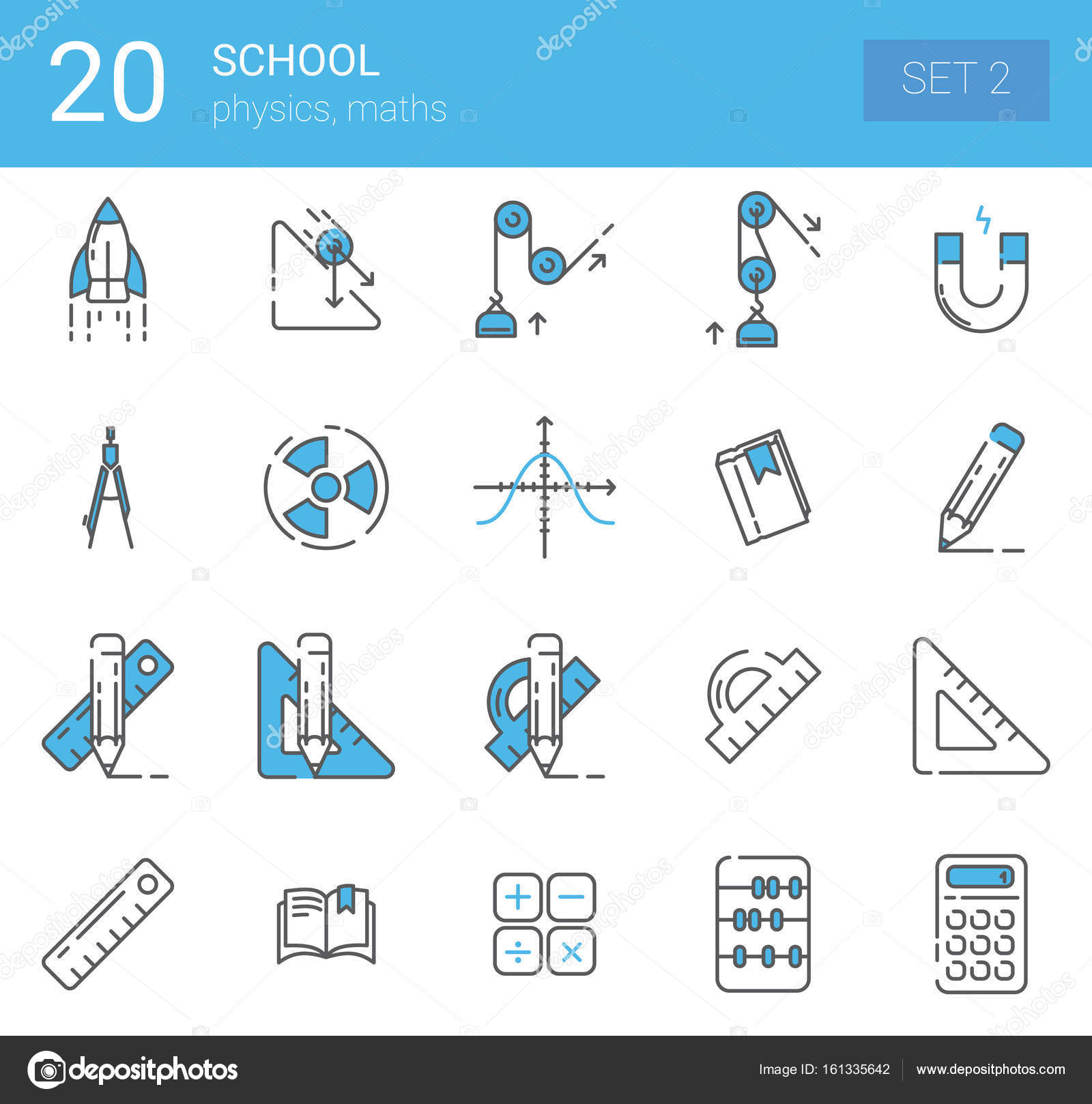 Simple Set of Online Education Related Vector Line Icons. Icons ...