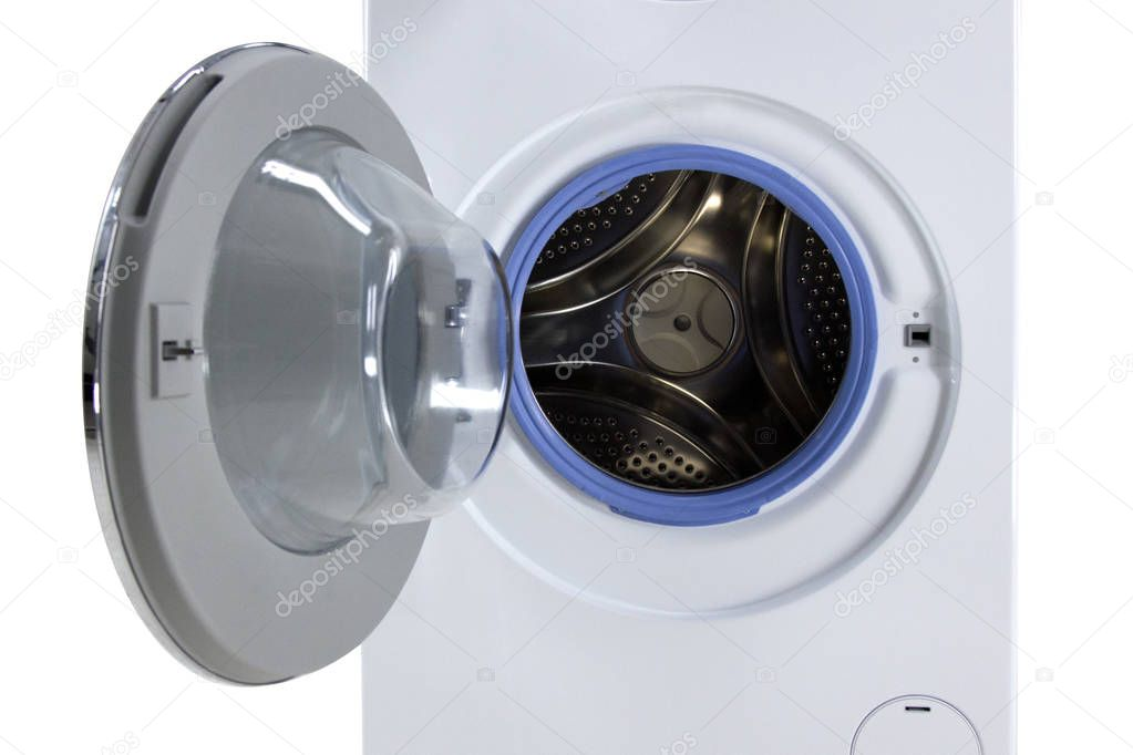 washing machine with open door