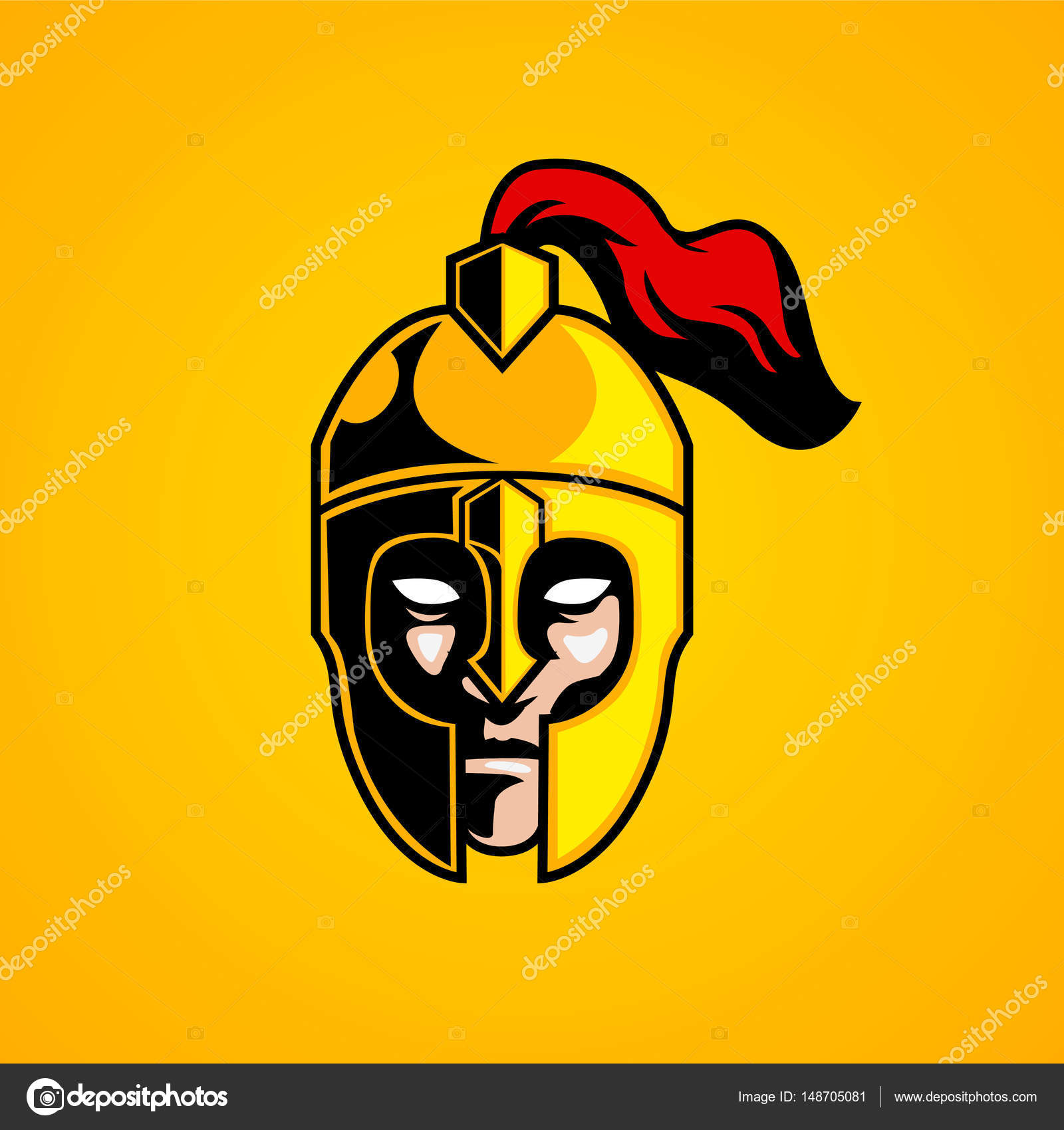knight head logo mascot stock vector ironstone72 148705081 rh depositphotos com knight horse head logo