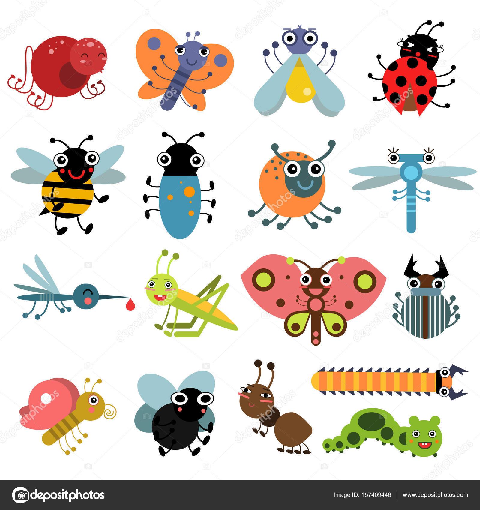 昆虫と虫のベクトル イラスト文字セット ストックベクター Onyxprj