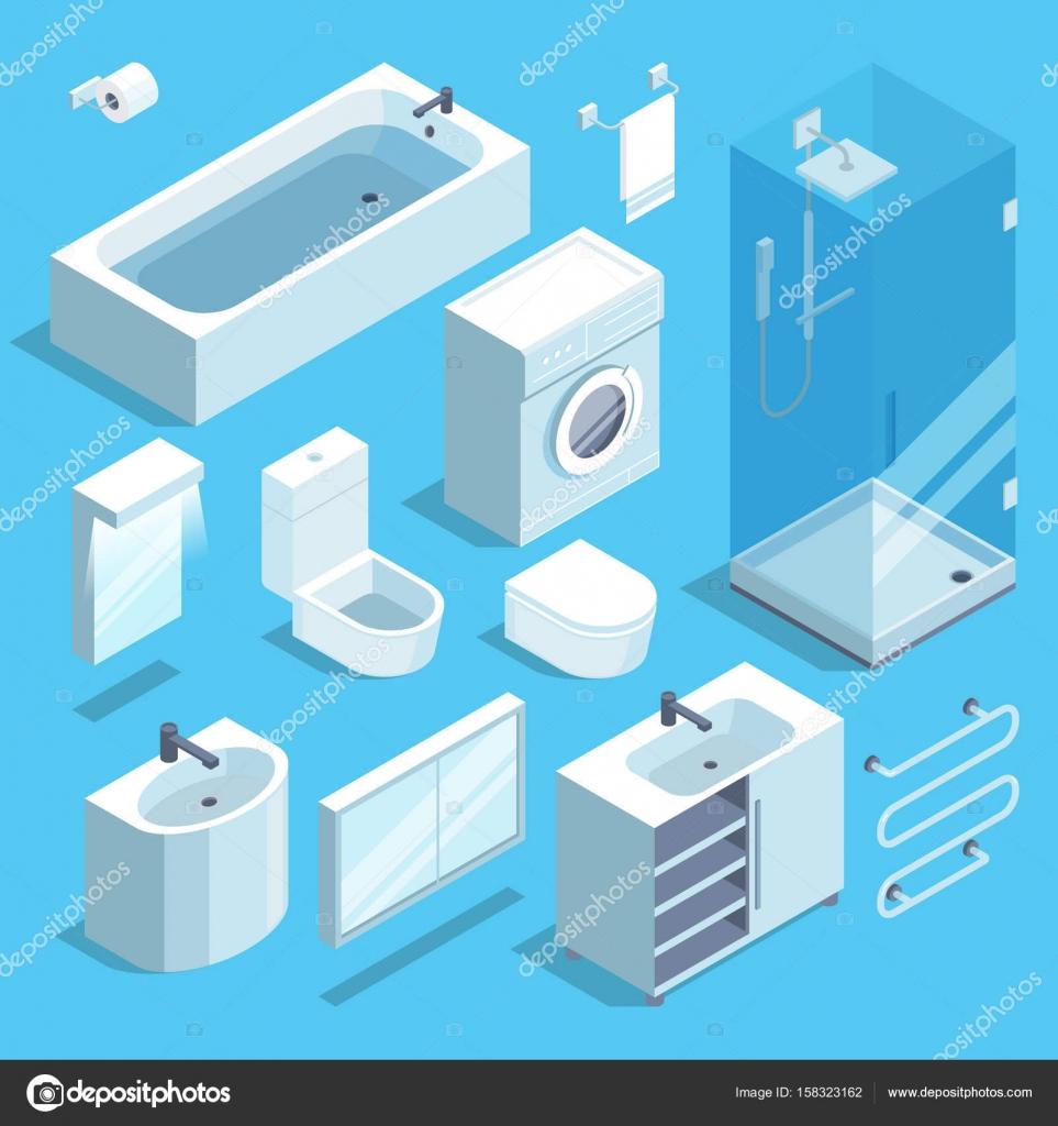 Conjunto De Elementos De Isom Trica Muebles De Interior De Cuarto  # Muebles Deinterior