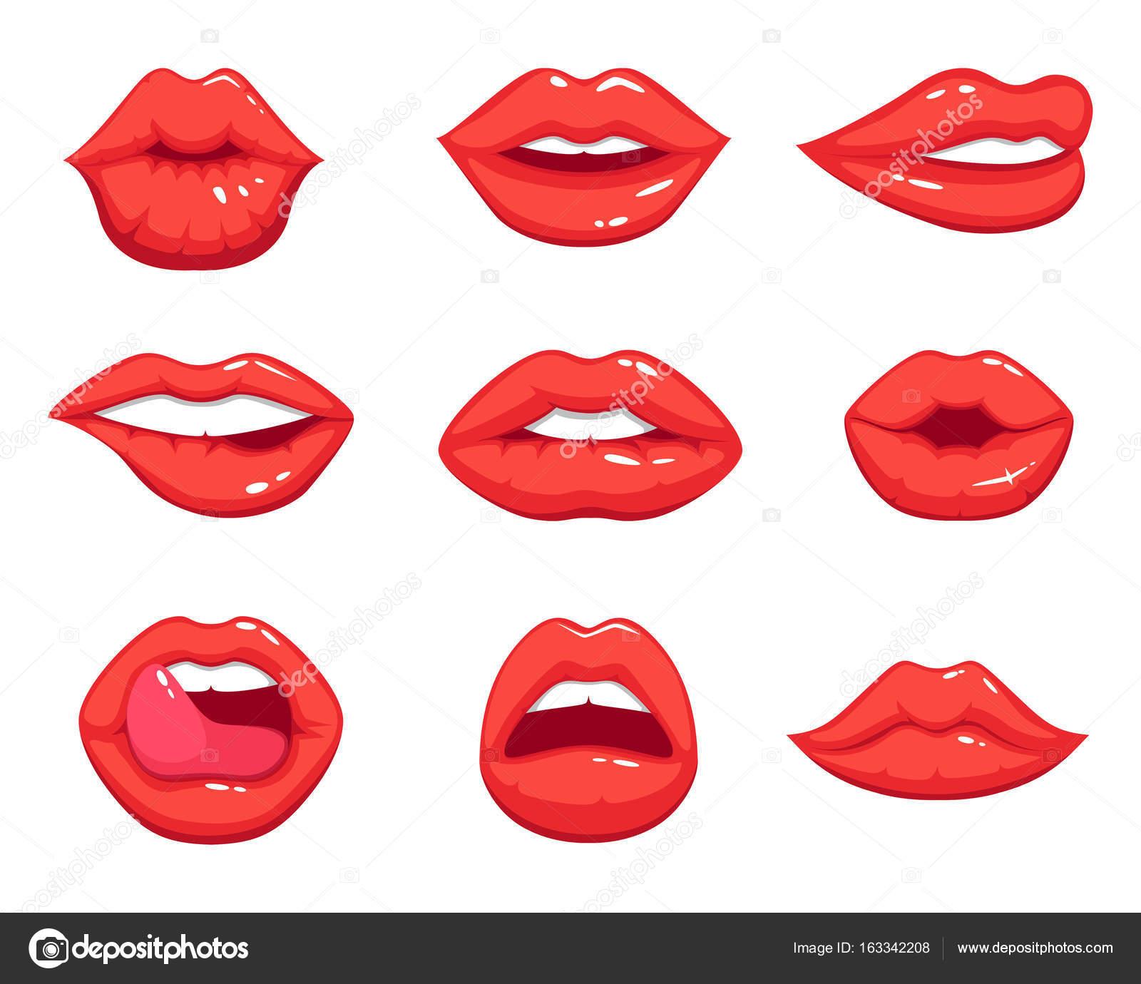 мультяшные картинки губы