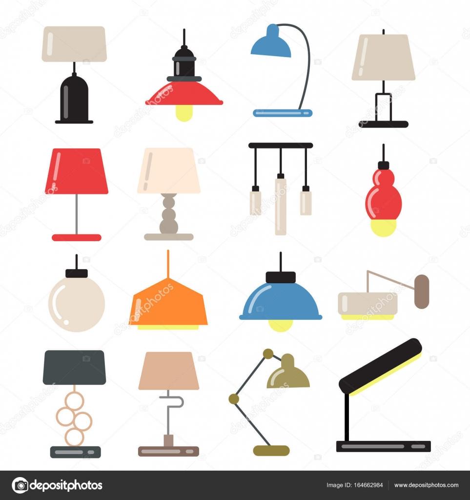 Lustres L Mpadas Modernas Na Mesa E Andar Na Luz Interior  -> Fotos De Lustres Simples