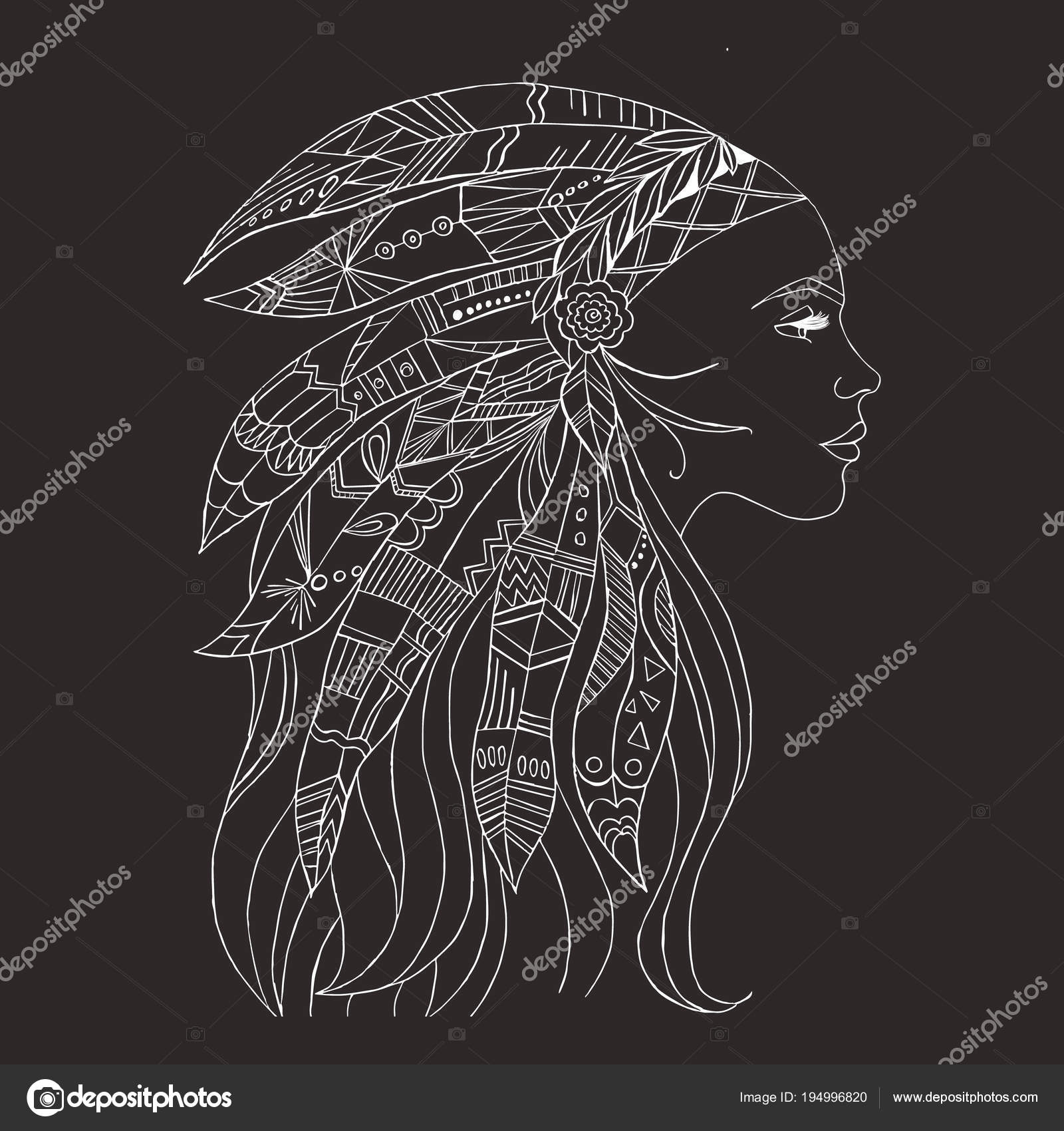 Tribal Indian Woman Tattoo Shirt Design Native American Woman Tattoo