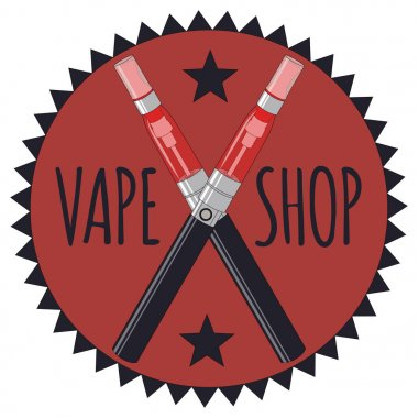 Vape Shop Icon And Letters