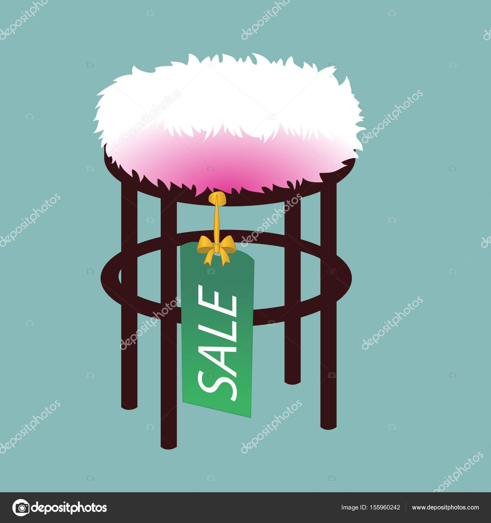 Ilustraci N De Muebles Puf Aislado Sobre Fondo Suave Turquesa  # Muebles Turquesa