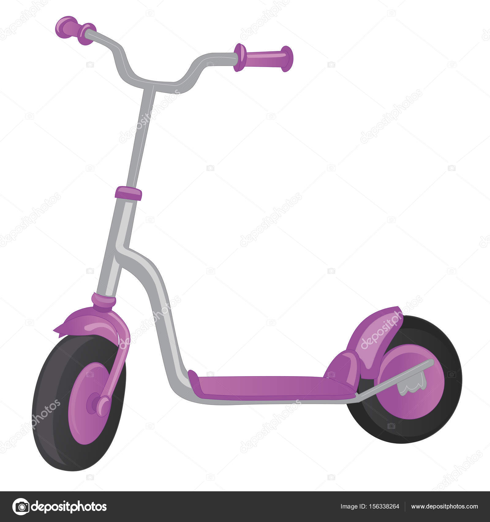 vector roller scooter balance bike cartoon cute color. Black Bedroom Furniture Sets. Home Design Ideas