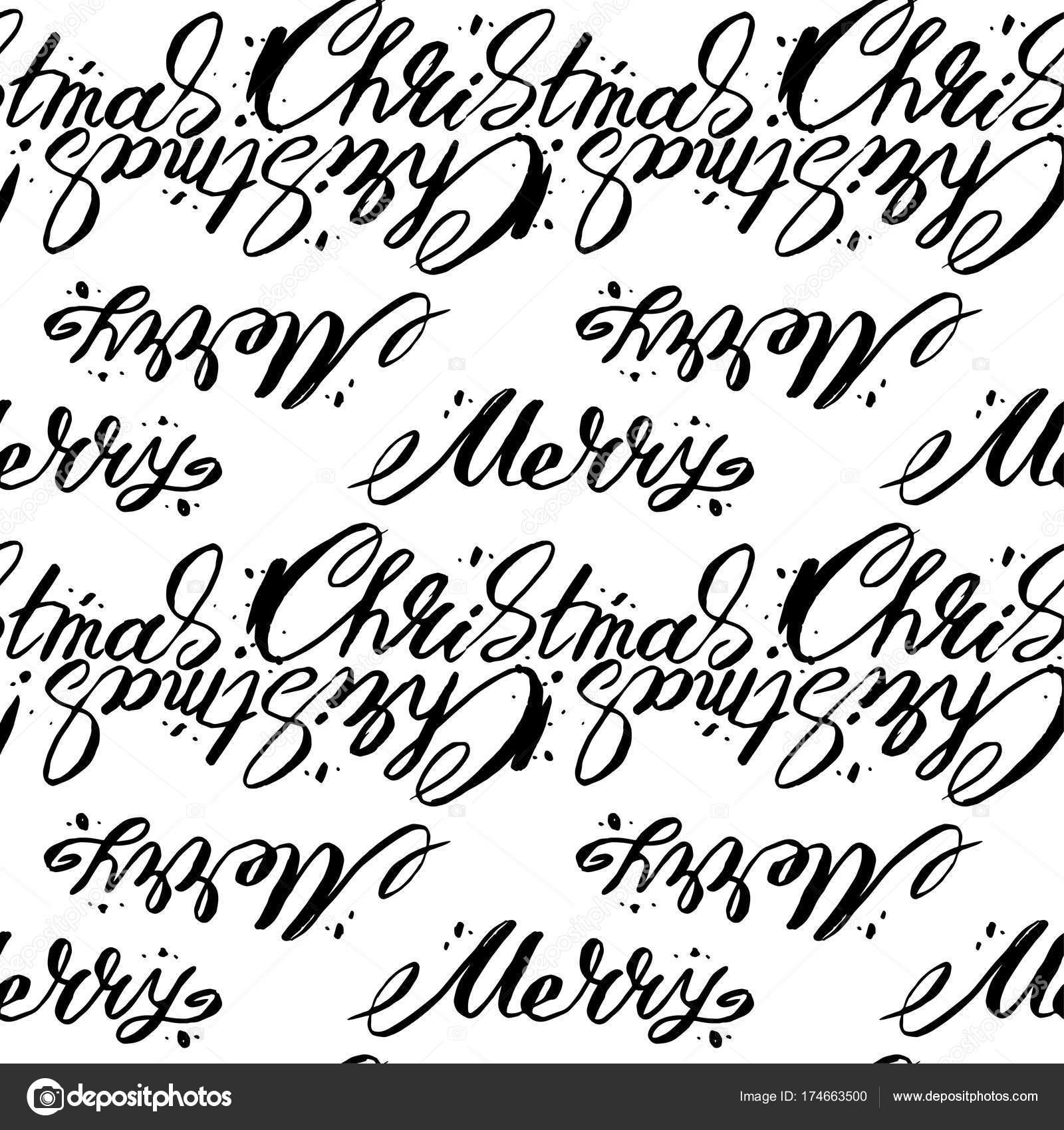 Vektor Weihnachten Worte Musterdesign. Frohe Weihnachten Text vektor ...