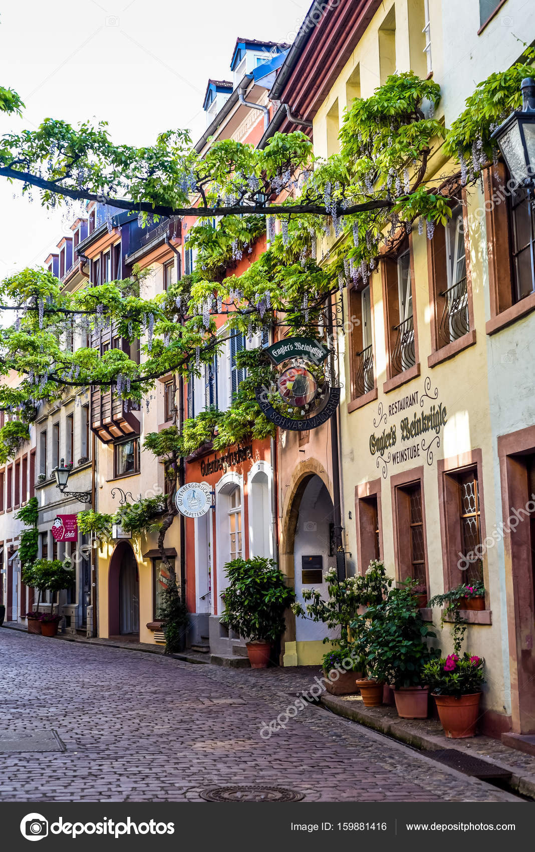 FREIBURG IM BREISGAU, GERMANY - May 17, 2017: old town ... on black forest, zürich, lake constance,