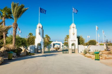 Entrance to Kalithea with water fountain (Rhodes, Greece)