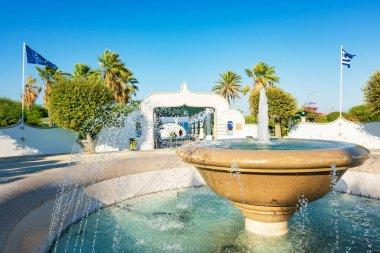 Circular water fountain in Kalithea (Rhodes, Greece)