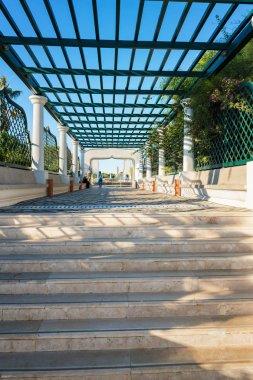 Main stairway in Kalithea (Rhodes, Greece)