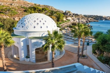 Dome in Kalithea (Rhodes, Greece) - Text translation: