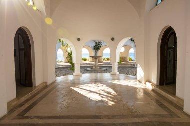Entrance into rotunda in Kalithea (Rhodes, Greece)
