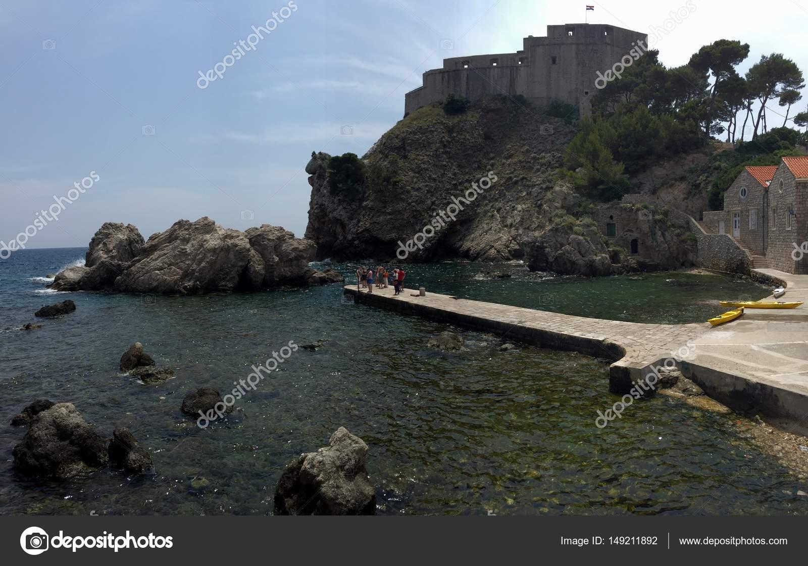 Soggiorno meraviglioso in una bella e spiaggia Croazia — Foto Stock ...