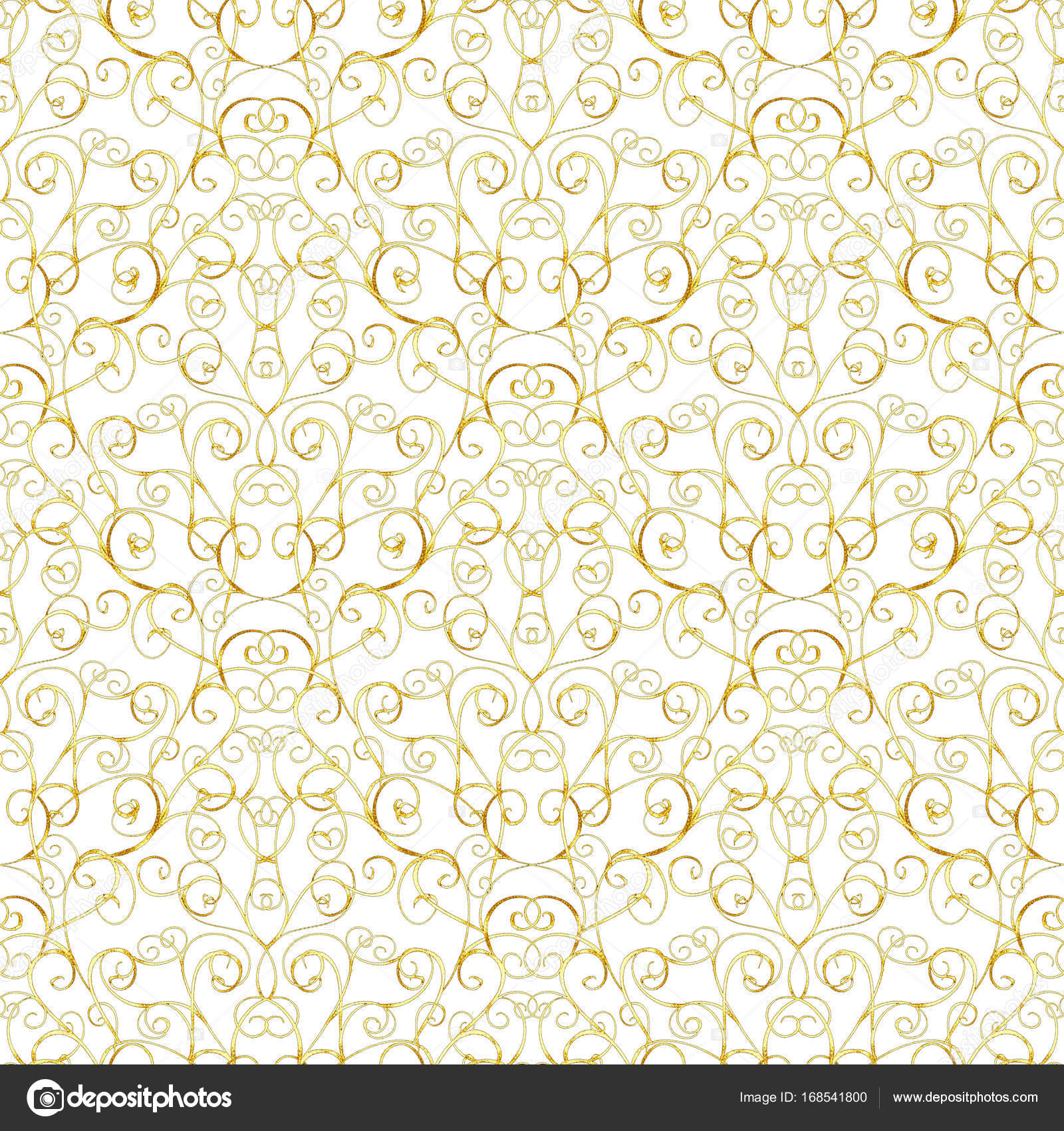 Luxury Gold Royal Seamless Pattern On White Background For Wallpaper Wrapping Textile Web Page Invitation Card Fashion Design