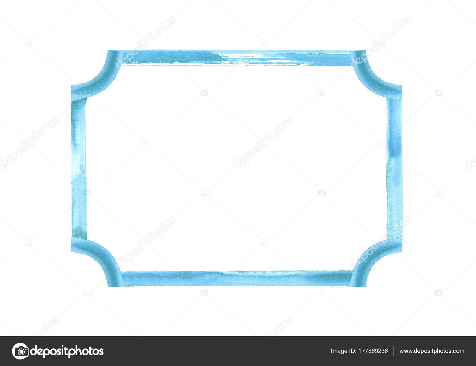 Marco de grunge acuarela color turquesa azul turquesa — Foto de ...