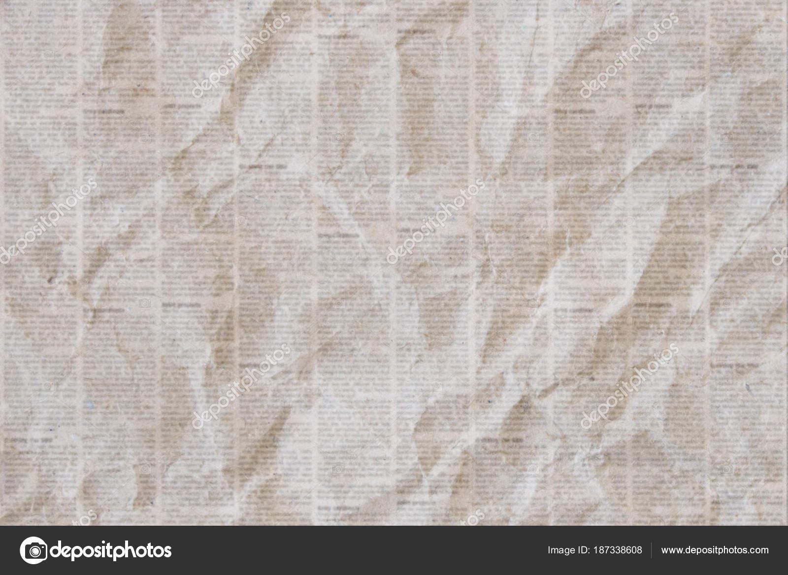 Fondo Papel De Diario Fondo De Textura De Periódico Arrugado
