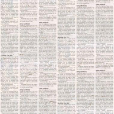 Newspaper texture seamless pattern