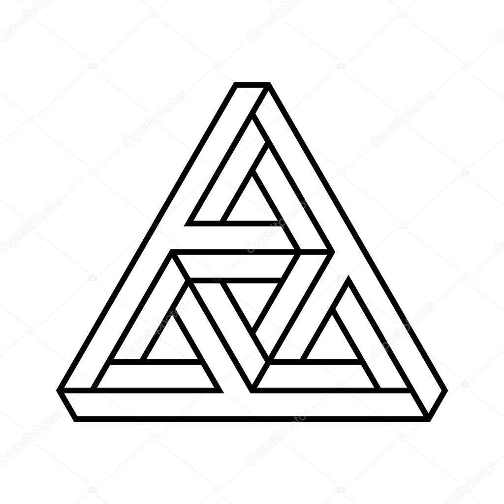 Penrose Triangle Png Image - Impossible Triangle Red Clipart (#1800912) -  PinClipart