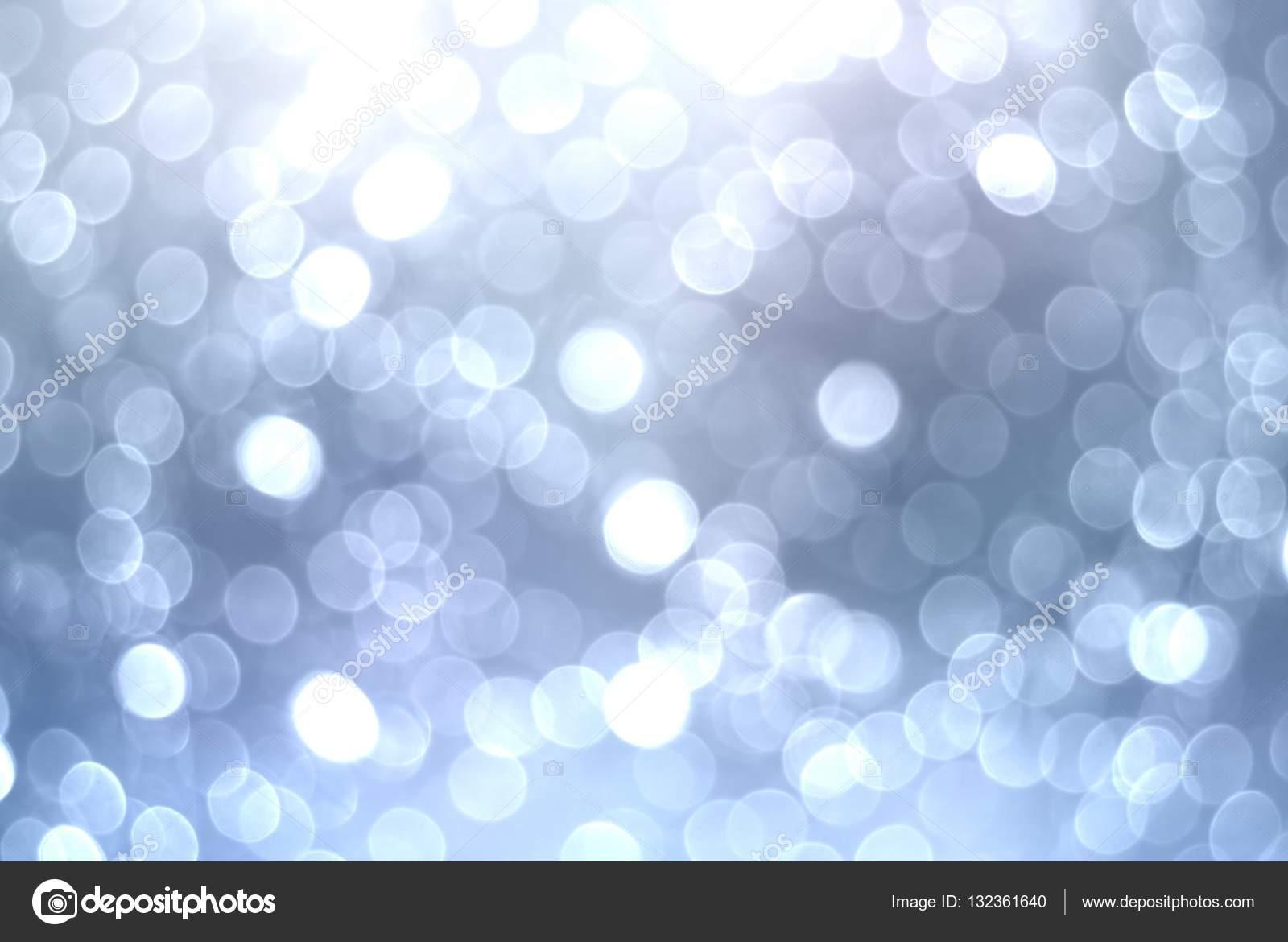 Silber Bokeh festlichen Hintergrund. Funkelnde Weihnachten Lichter ...