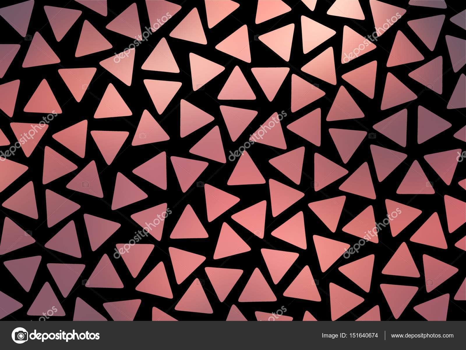 Red Shards Of Mosaic Triangular Background Shiny Geometric Pattern On A Black Wall