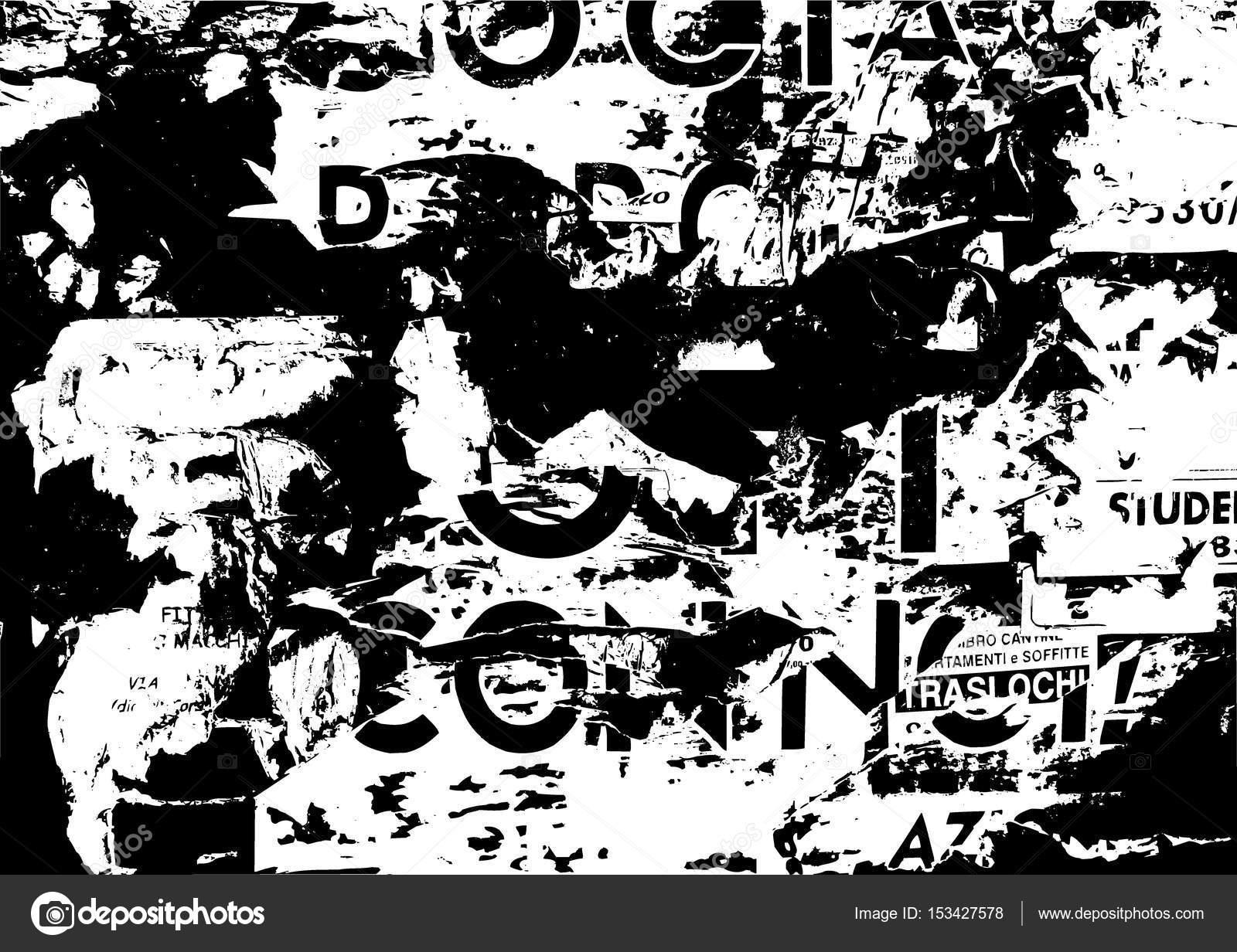 plantilla de collage de papel rasgado de grunge viejo - fondo de ...