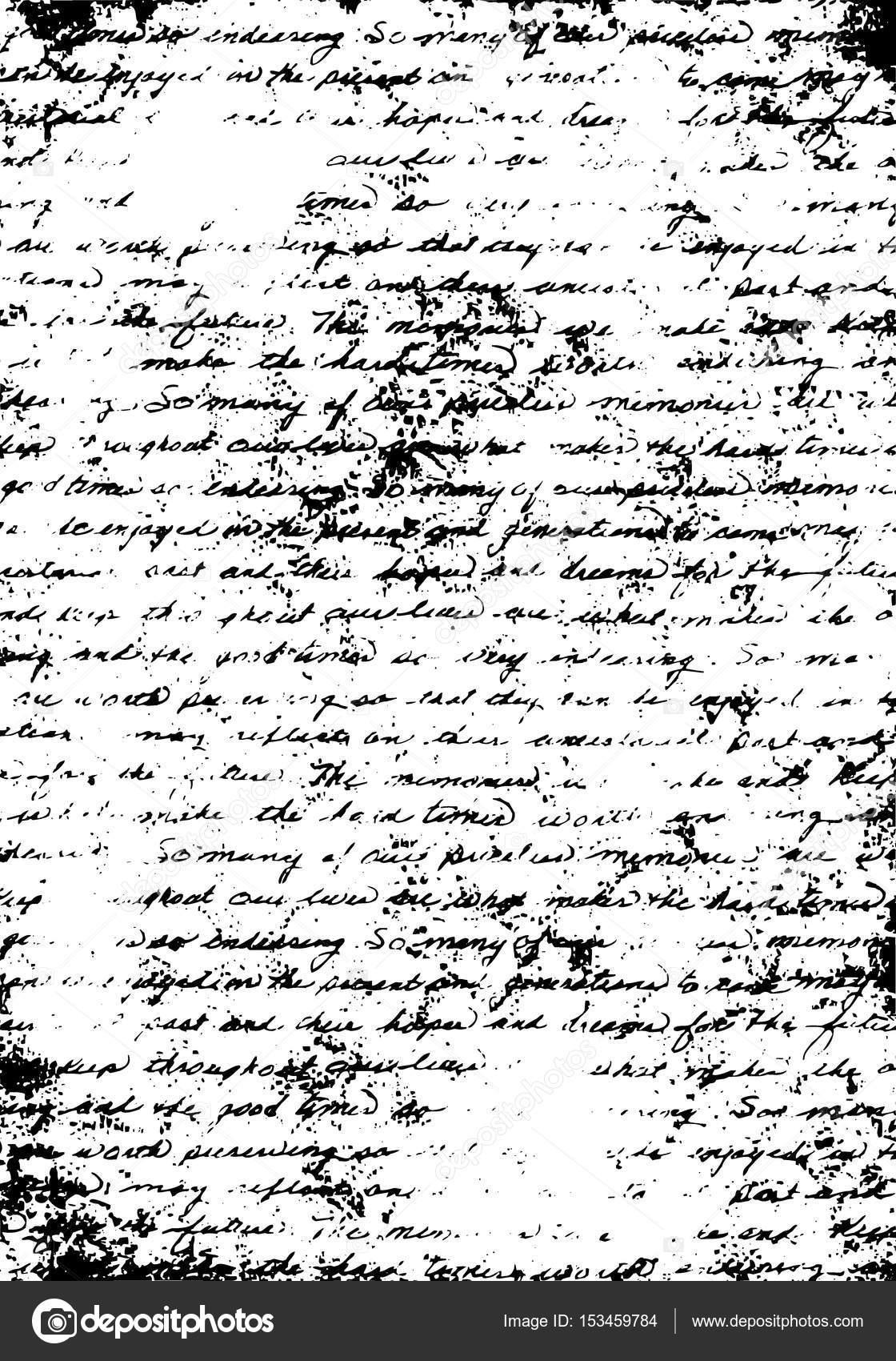impresión carta sucia viejo - texto vintage, plantilla de escritura ...