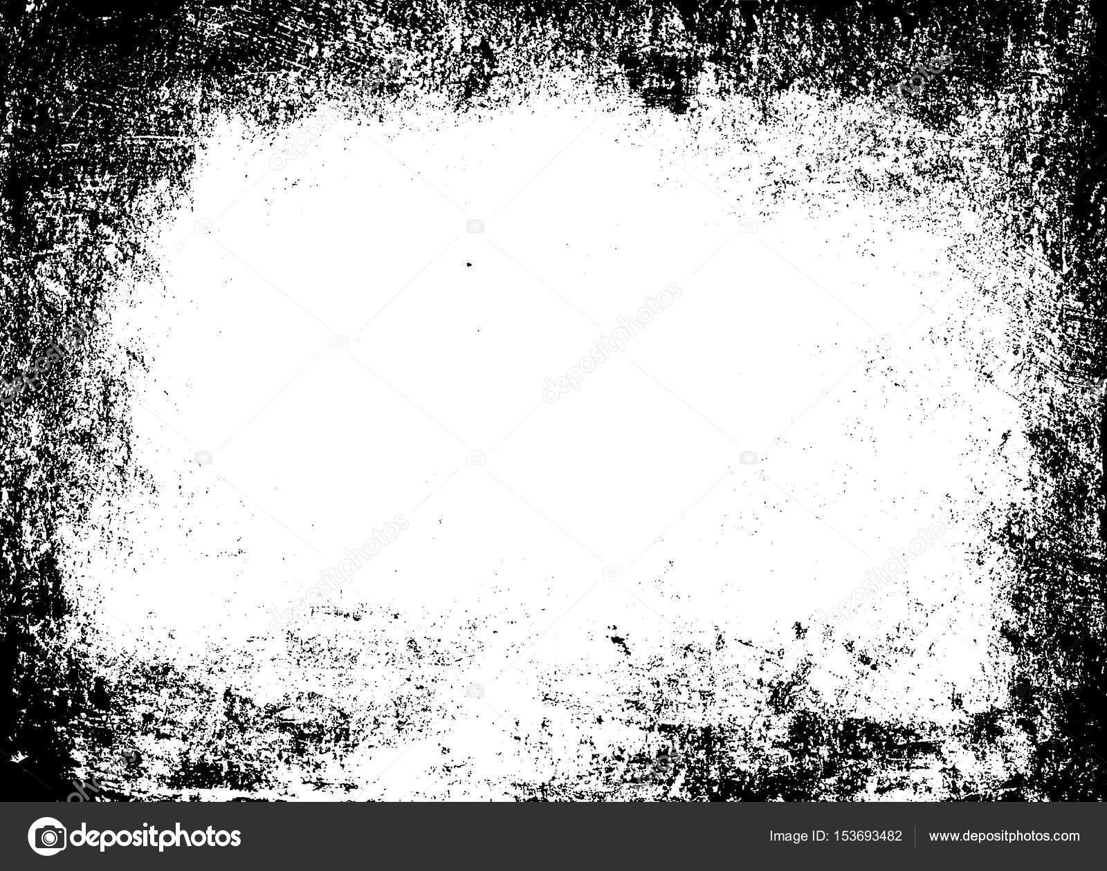 Textura de marco Grunge. Plantilla gráfico blanco negro — Foto de ...