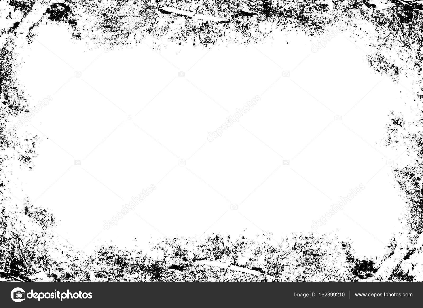 Imprime sucio plantilla marco. Textura, negro, blanco. Vieja textura ...