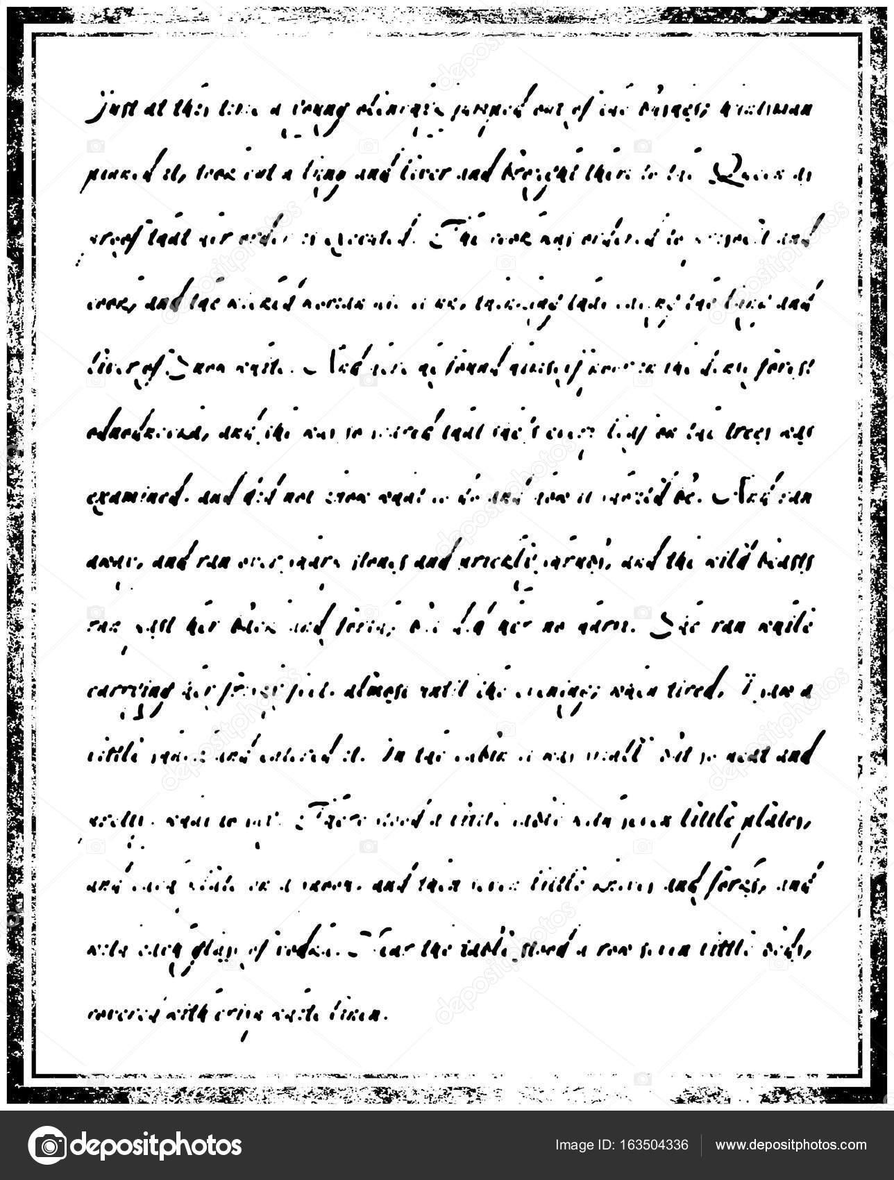 Textura de la página de libro antiguo. Vintage texto ilegible ...