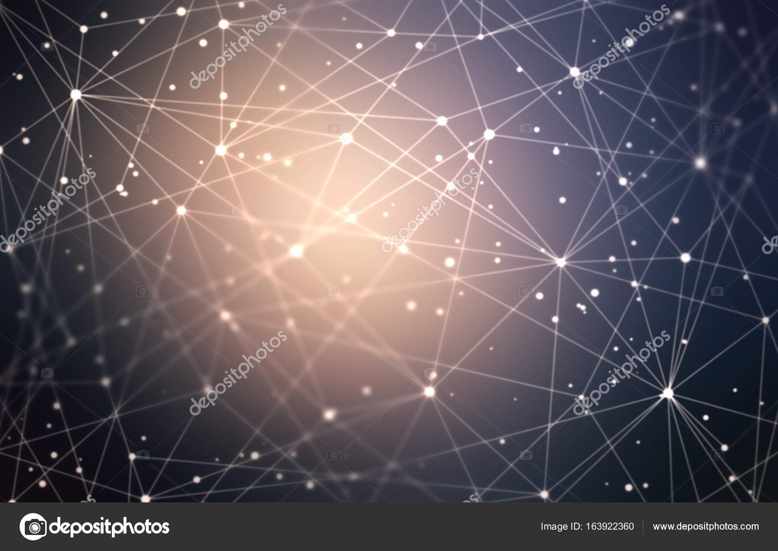 Techno polygonal empty background  Dark techno net abstract