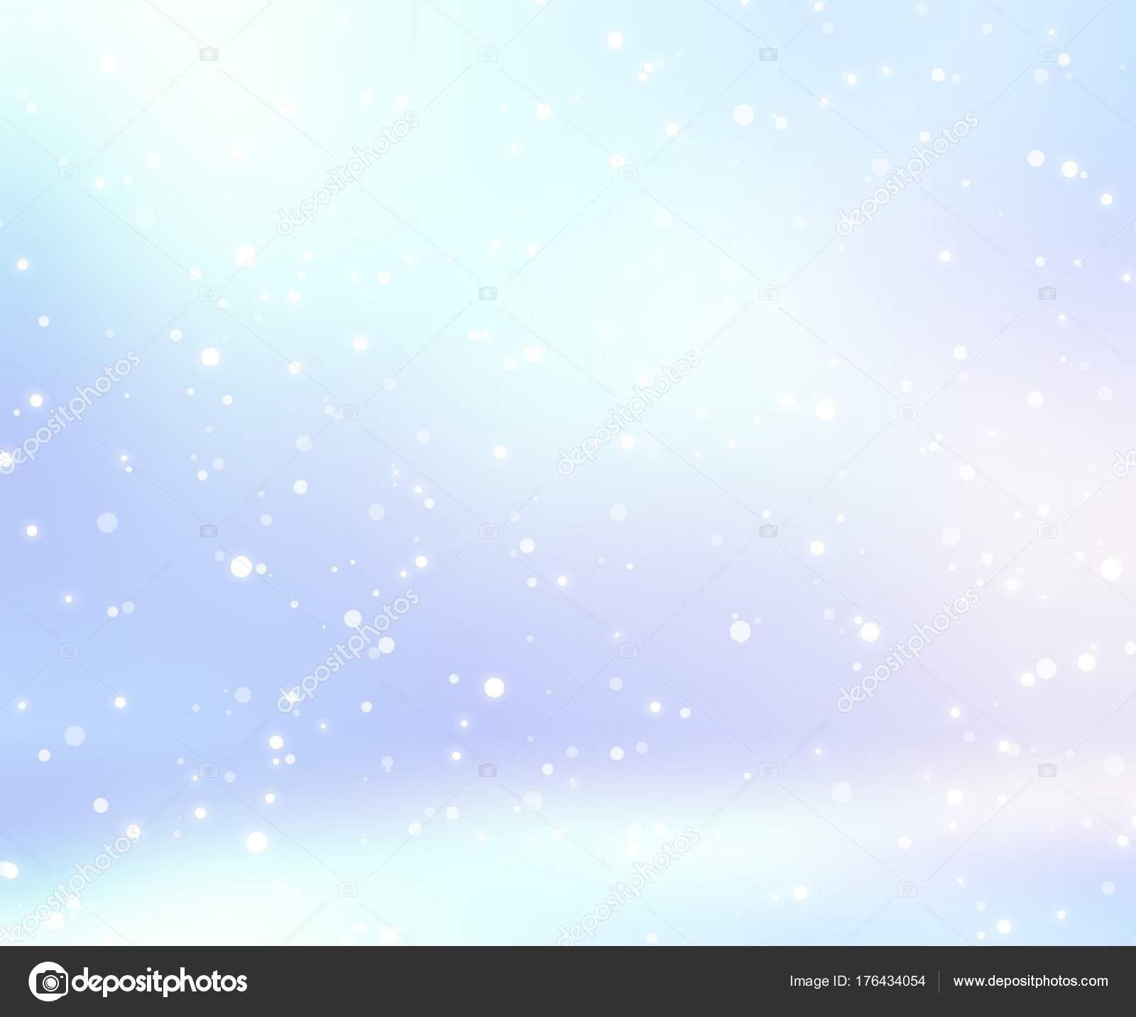 青光る空スペースに積雪 冬の装飾 光のインテリア イラスト 雪の背景