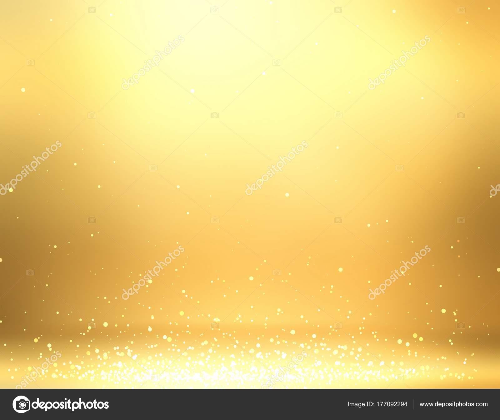 Sparkles Golden Room Illustration Gold Wall Floor Decoration Glitter ...