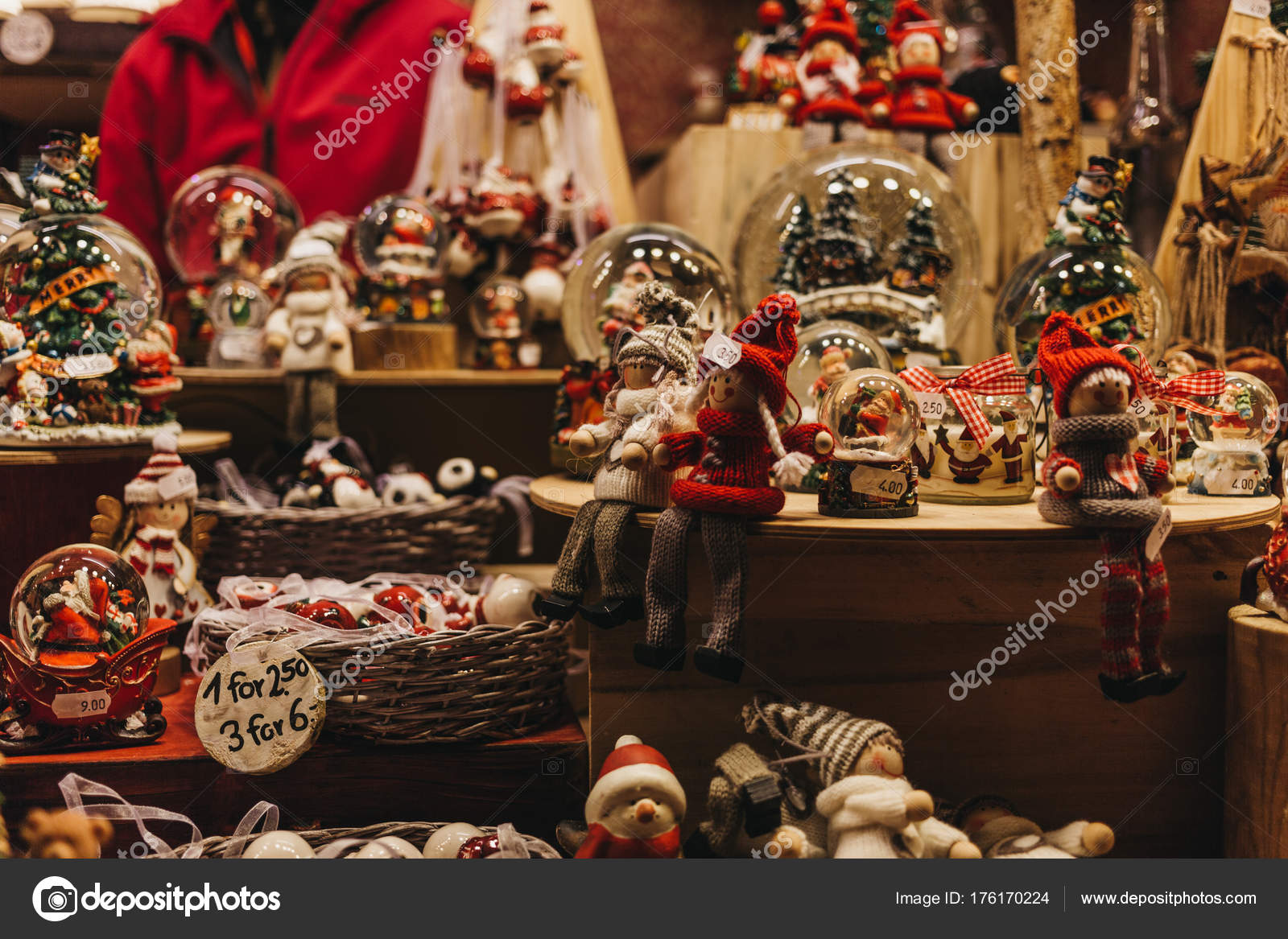 london november 2017 christmas christmas tree decorations sale stall winter stock photo