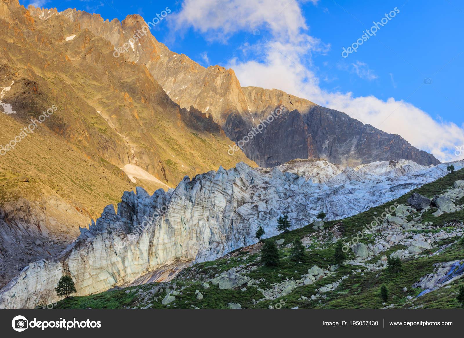 Klettersteig Chamonix : Argentiere gletscher in chamonix alpen frankreich u stockfoto