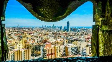Barcelona skyline on a summer day