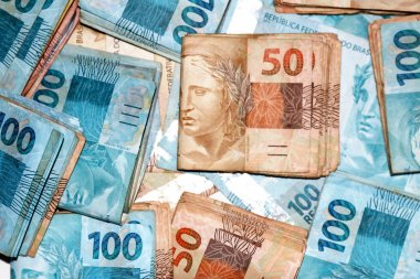 Brazilian money packages with new notes