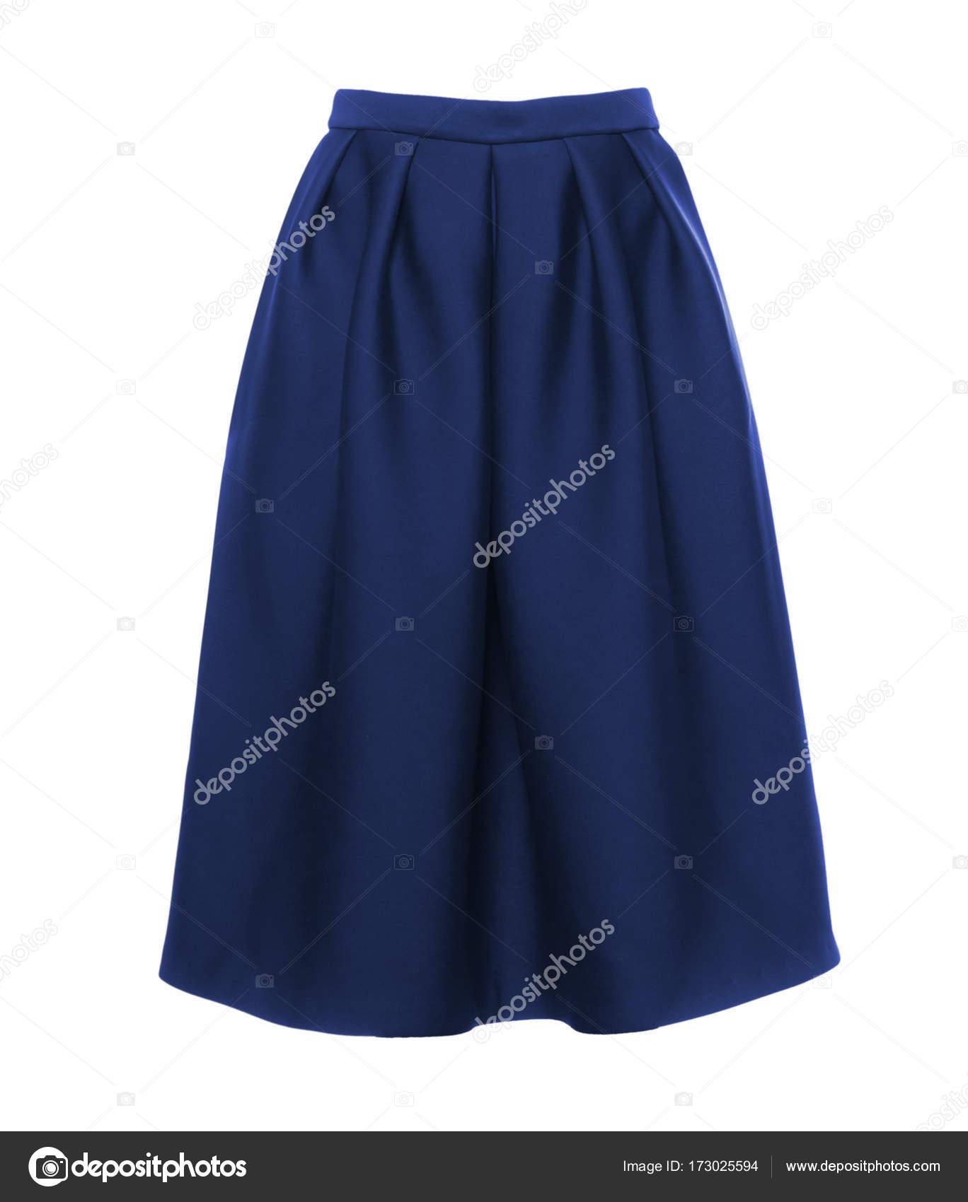 d898e0ca5d92c0 Donker Blauwe Lange Rok Een Witte Achtergrond — Stockfoto © yogurt ...