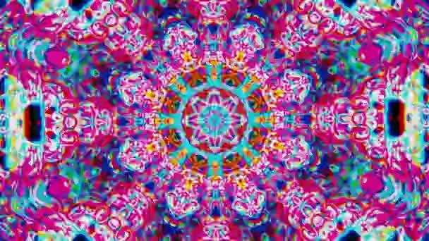 Organické geometrické ozdoby, mnohobarevná animace pro abstraktní projekty.