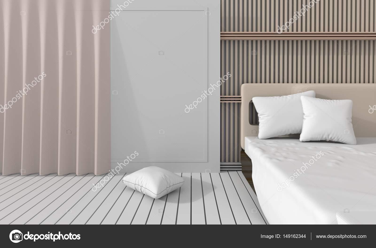 Sypialnia W Miękkich Jasnych Kolorach Udekoruj ściany