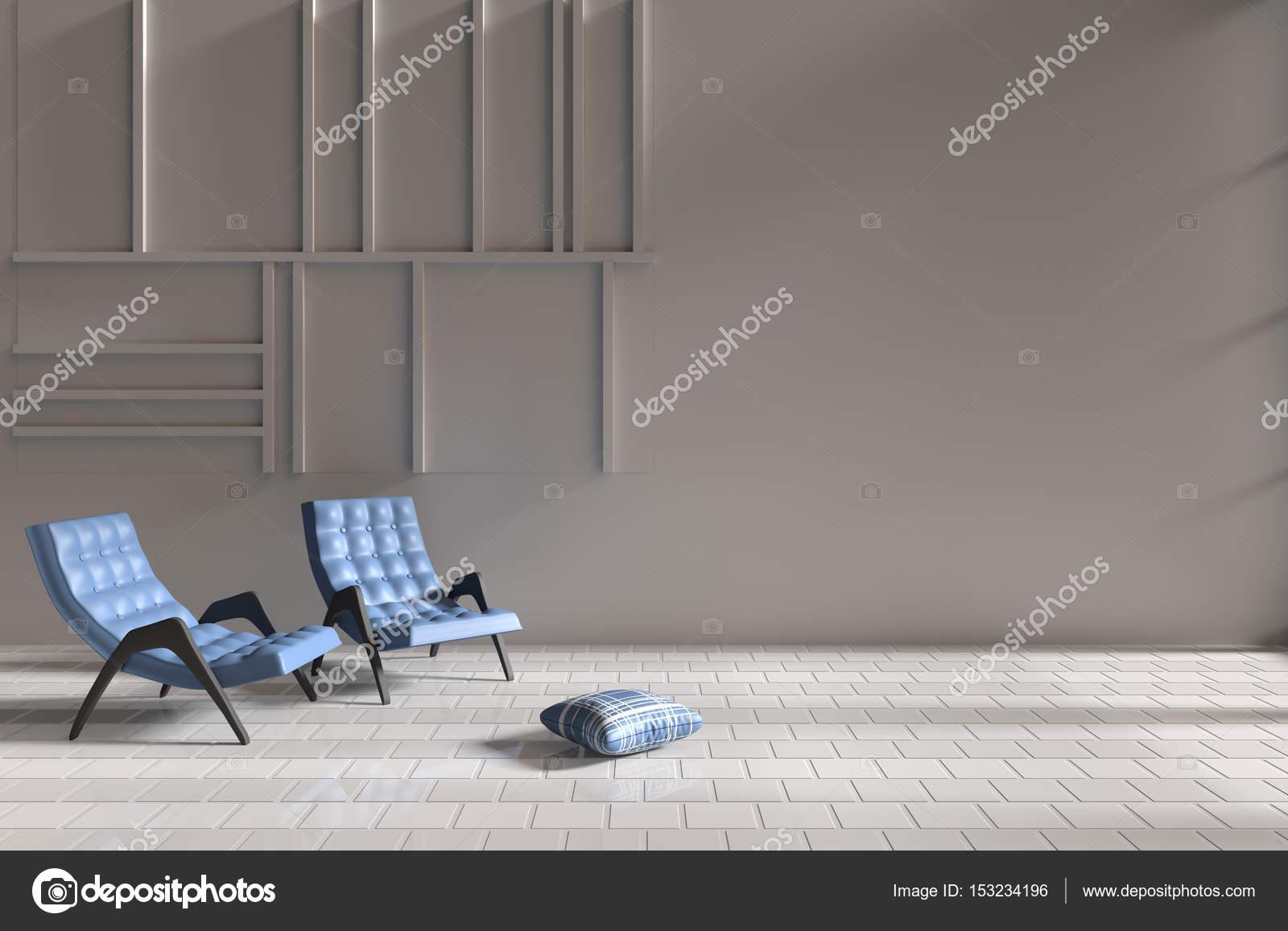 Sala De Estar Em Relaxar O Dia Decora O Com Duas Poltrona Azul  ~ Quarto Para Duas Adolescentes E Pisos Para Sala E Quarto