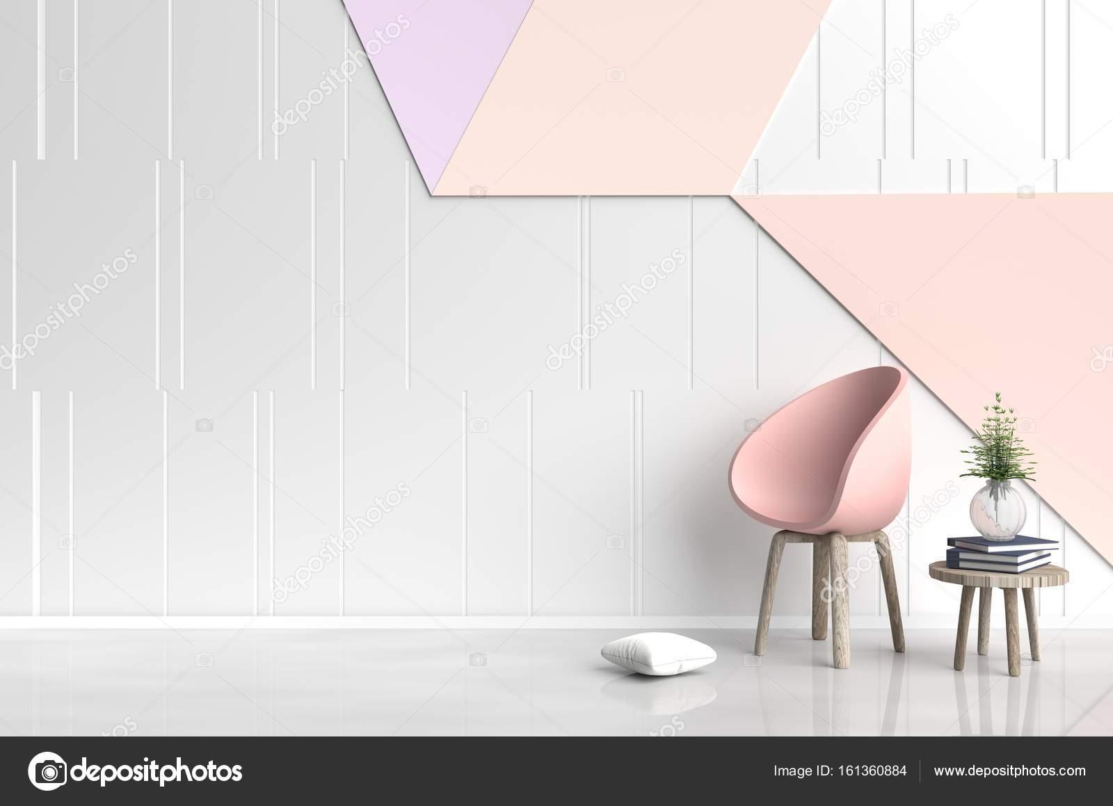 Chambre blanc-orange sont ornés de chair rose-orange, arbre dans ...