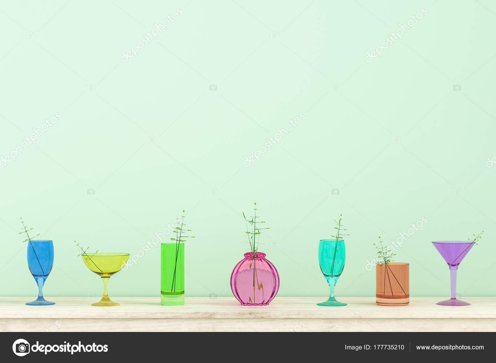 Kleurrijke glazen achtergrond kerstmis nieuwjaar partij dag kamer