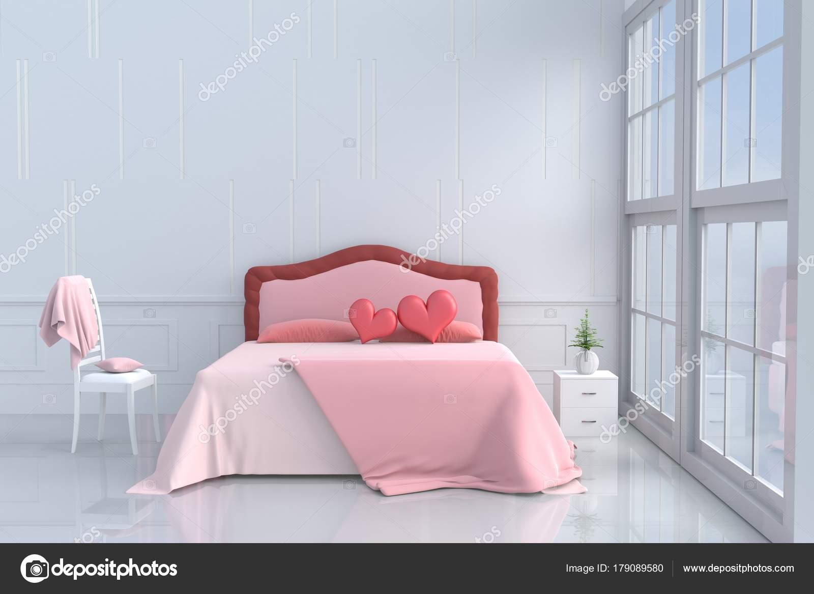 Roze Slaapkamer Stoel : Rode harten roze bed slaapkamer van liefde decor met twee