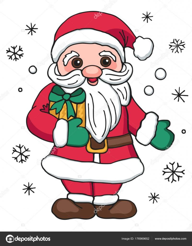 Navidad Santa Claus Con Regalos Personaje Dibujos Animados ...