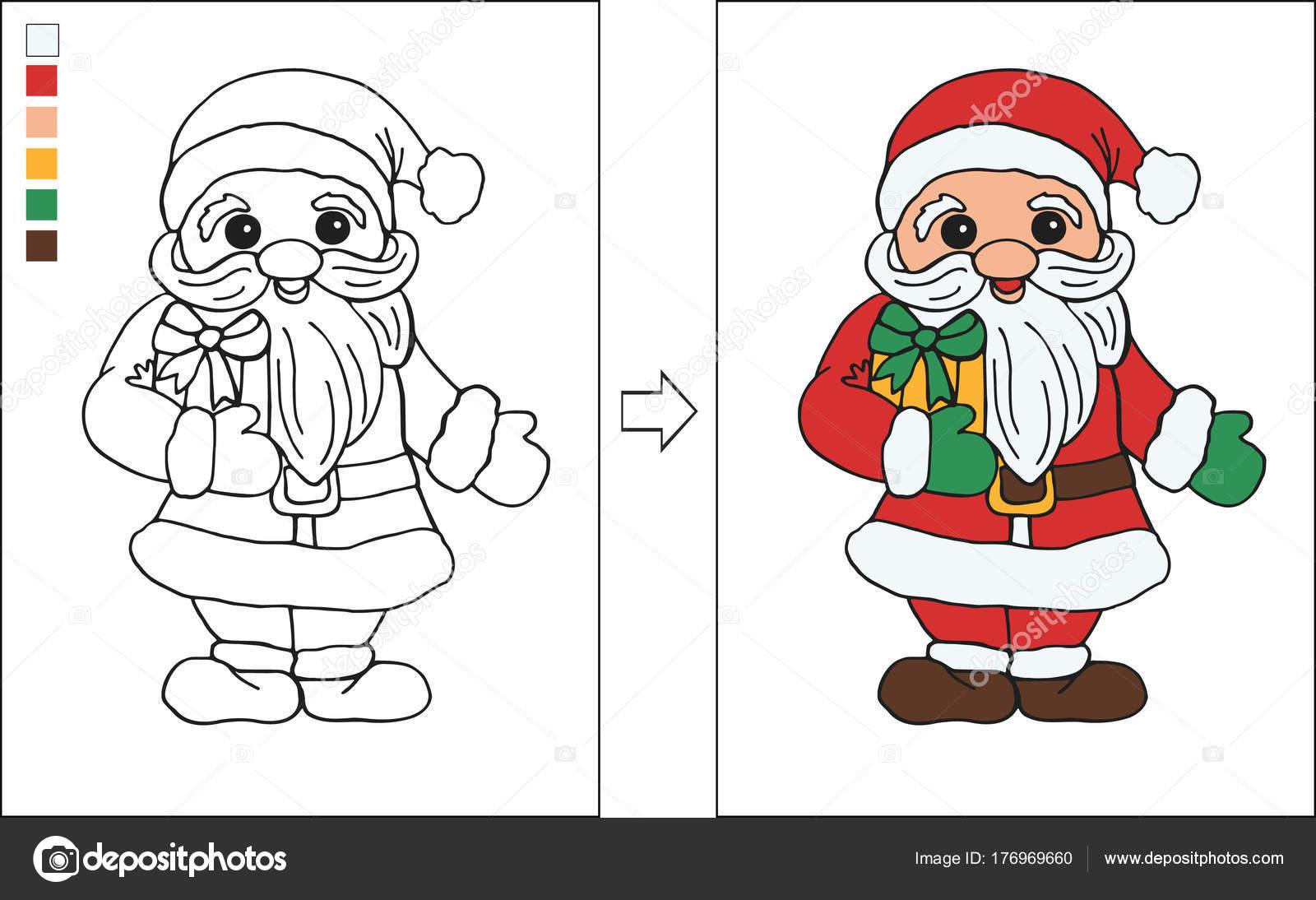 Personajes de navidad para dibujar | Página Santa Claus Niños Para ...