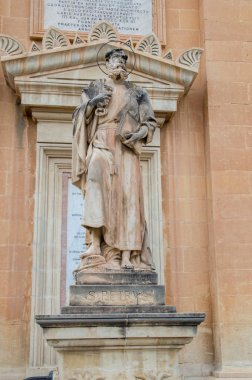 Mosta, Malta - May 11, 2017: Religious statue at Rotunda of St. Marija Assunta in Mosta, Malta.